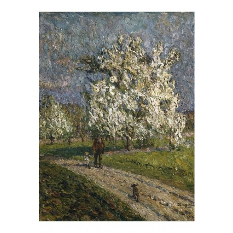 "EMILIO BOGGIO ""Big Peartree in Flower"" new CANVAS print various SIZES, BRAND NEW"