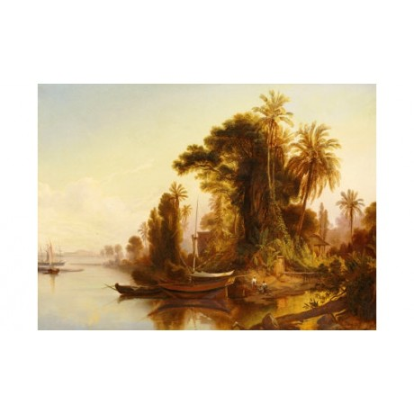 "FERDINAND BELLERMAN ""Paisaje Venezolano"" boat PRINT various SIZES available, NEW"