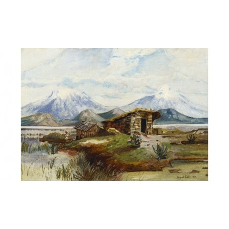 "AUGUST LOHR ""Popocatepetl E Izlazihuatl"" new CANVAS! various SIZES available"