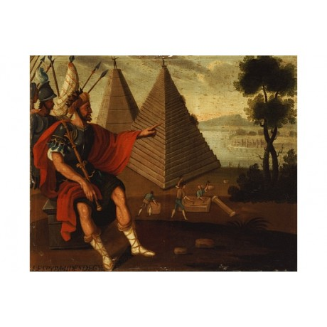 "CUZCO SCHOOL ""Pyramids Of Egypt"" print ON CANVAS choose SIZE, from 55cm up, NEW"