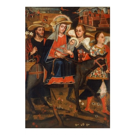 "MIGUEL DE BERRIO ""Flight Into Egypt"" Bible PRINT choose SIZE, from 55cm up, NEW"