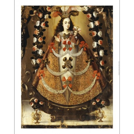 "LEONARDO FLORES ""Virgin Of Pomata"" ON CANVAS Religious various SIZES, BRAND NEW"
