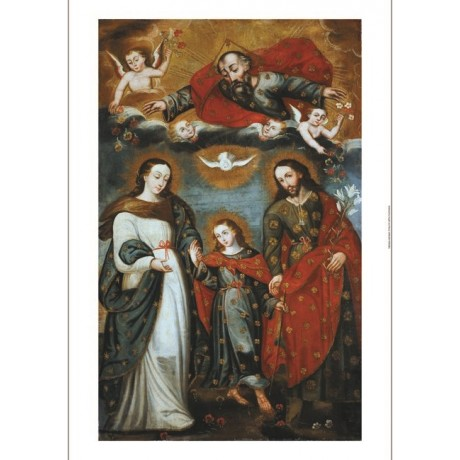 "CUZCO SCHOOL ""Sacred Family"" religious CANVAS print various SIZES available, NEW"