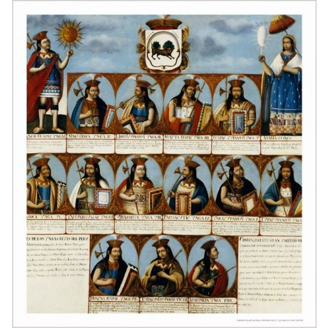 "PERUVIAN SCHOOL ""La Dinastia Inca"" CANVAS ART ! choose SIZE, from 55cm up, NEW"