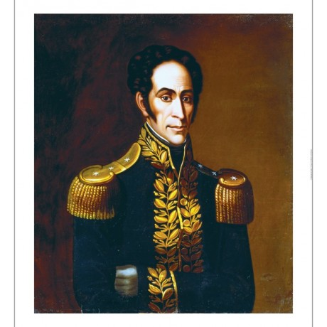 "ANTONIO SALAS ""Simon Bolivar, 1825"" new CANVAS print! various SIZES, BRAND NEW"