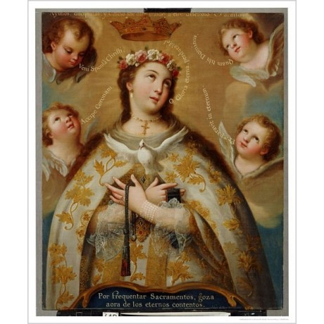 "JOSE DE PAEZ ""Coronation Of Virgin"" Religious Print various SIZES available, NEW"