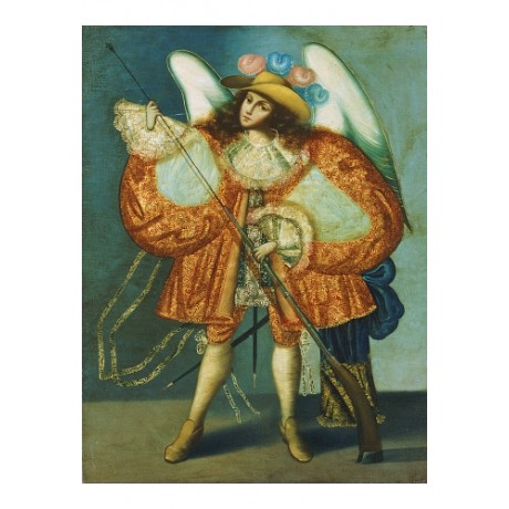 "CUZCO SCHOOL ""Arcangel Con Arcabuz"" Art Religious choose SIZE, from 55cm up, NEW"