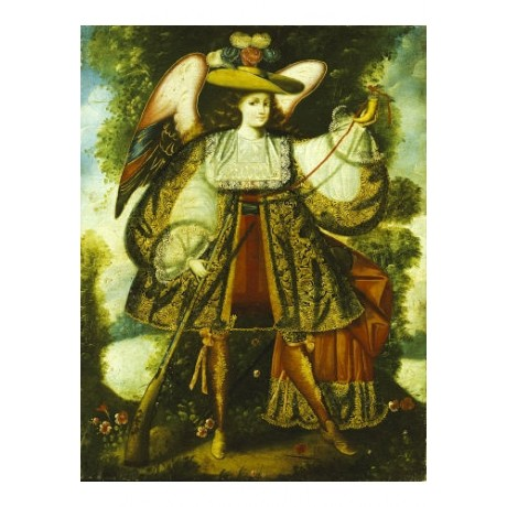 "CUZCO SCHOOL ""Arcangel Con Arcabuz"" print religious various SIZES available, NEW"