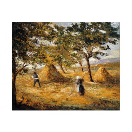 "EMILIO BOGGIO ""Moisson"" Landscape Art CANVAS EDITION various SIZES available"