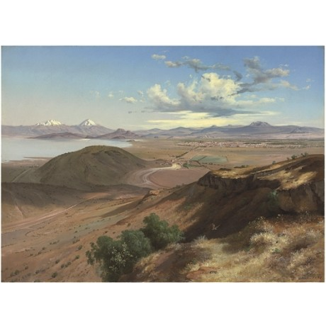 JOSE MARIA VELASCO Valley of Mexico from the Hill of Saint Isabel CANVAS PRINT