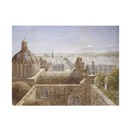 "PETER PETERSEN TOFT ""View of Mexico City"" new CANVAS! various SIZES, BRAND NEW"