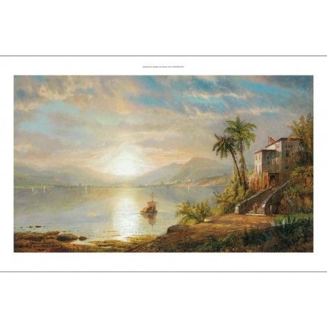 EDMUND DARCH LEWIS Santiago de Cuba CALM sea sunset SHIP bay house bridge NEW!