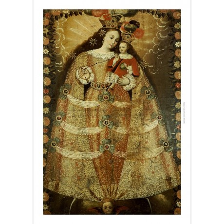 "CUZCO SCHOOOL ""Virgin Of Pomata With A Rosary"" PRINT various SIZES available"