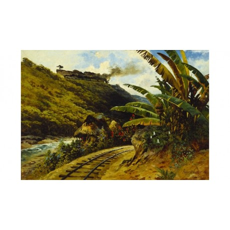"AUGUST LOHR ""Journey By Steam Train"" new CANVAS print! various SIZES, BRAND NEW"