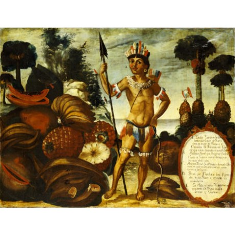 "VICENTE ALBAN ""Yumbo Indian From Maynas"" print NEW choose SIZE, from 55cm up"