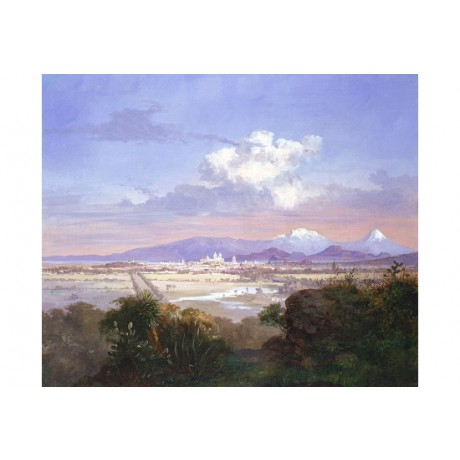 "SALVADOR MURILLO ""Valley Of Mexico With Volcanoes"" NEW! various SIZES, BRAND NEW"