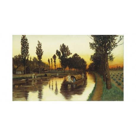 "AUGUST LOHR ""Canal De Santa Anita"" new CANVAS print! various SIZES available"