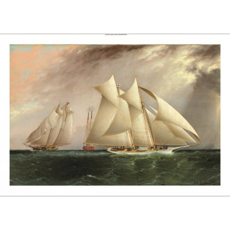 "JAMES BUTTERSWORTH ""Columbia leading Dauntless"" SAILING various SIZES, BRAND NEW"