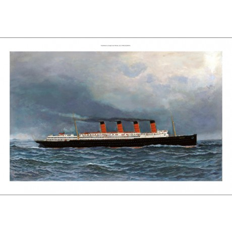 "ANTONIO JACOBSEN ""R.M.S. Lusitania Under Full Steam"" LINER sister of mauretania"