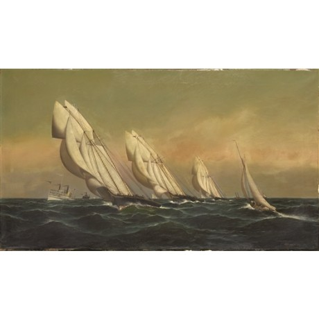 "ANTONIO JACOBSEN ""New York Yacht Club Members' Race"" SCHOONERS sailing race"