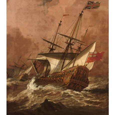 English Man-O-War Resolution in Gale royal navy ship various SIZES available
