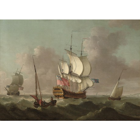 "THOMAS MELLISH ""Ships of Fleet Passing"" royal navy choose SIZE, from 55cm up"