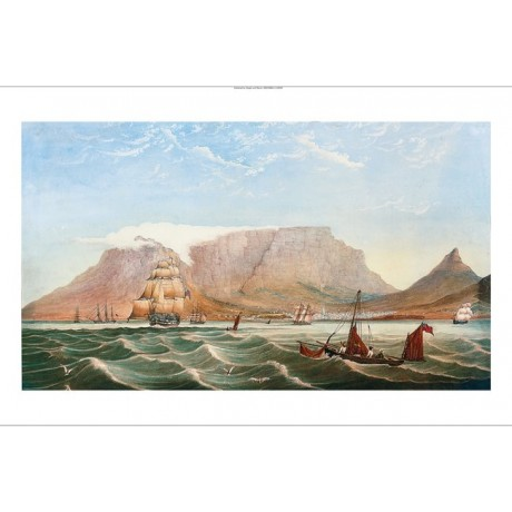 "CIRCLE OF THOMAS BOWLER ""HMS Jupiter Leaving Cape Town"" various SIZES, BRAND NEW"