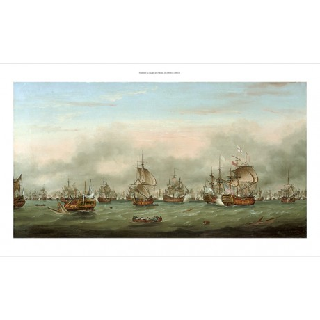 "THOMAS MITCHELL ""Battle of the Saintes 1782"" navy ships various SIZES available"