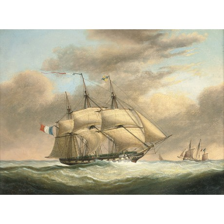 "NICHOLAS MATTHEW CONDY ""French Frigate in Stiff Breeze"" various SIZES, BRAND NEW"