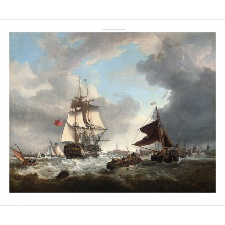 "GEORGE WEBSTER ""A 74 Shortening Sail"" ship portsmouth various SIZES, BRAND NEW"
