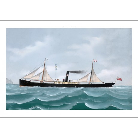 "LUIGI ROBERTO ""Cargo Steamer Brator Off Genoa"" CANVAS various SIZES, BRAND NEW"