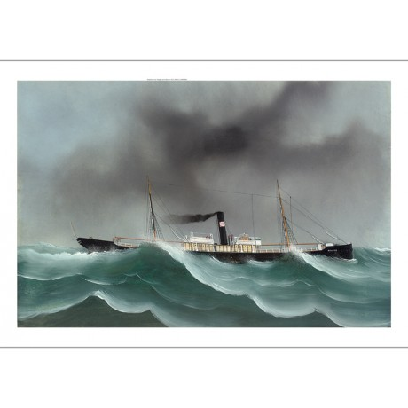 "LUIGI ROBERTO ""Brator Riding Out the Gale"" ship CANVAS various SIZES, BRAND NEW"