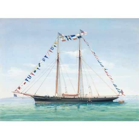 "ANTONIO DE SIMONE ""Royal Schooner Modwena"" CANVAS choose SIZE, from 55cm up, NEW"