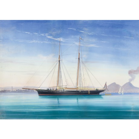 "ANTONIO DE SIMONE ""Royal Yacht in Neapolitan Waters"" various SIZES available"