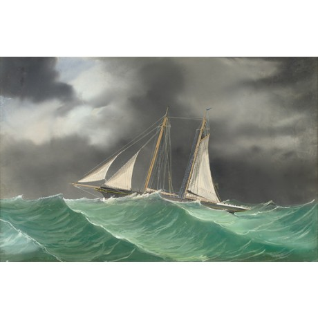 "LUIGI ROBERTO ""Schooner Yacht in Lightning Storm"" ship various SIZES, BRAND NEW"