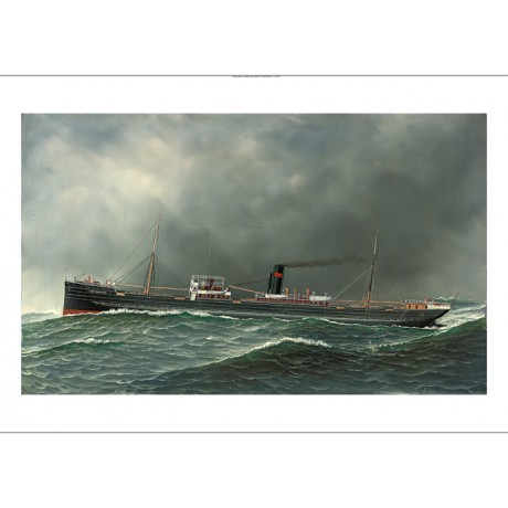 ANTONIO JACOBSEN Steamship Clan Farquhar in Heavy Seas various SIZES, BRAND NEW