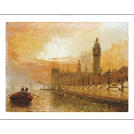 CLAUDE T. STANFIELD MOORE Westminster Thames PRINT new various SIZES, BRAND NEW