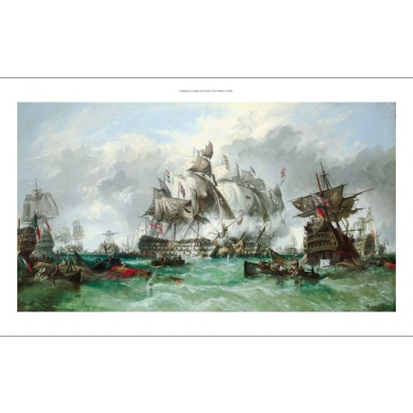 "WILLIAM STUART ""Trafalgar: With Victory Assured"" battle navy NEW CANVAS PRINT"