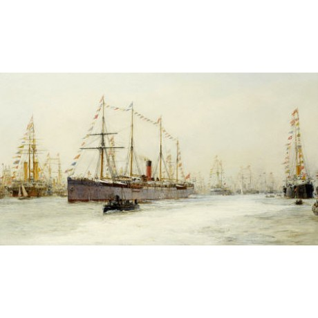 "WILLIAM LIONEL WYLLIE ""Diamond Jubilee Review"" PRINT various SIZES available"