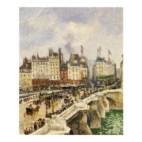 "CAMILLE PISSARRO ""Le Pont-Neuf"" Paris CANVAS ART ! choose SIZE, from 55cm up"