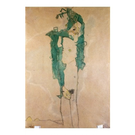 "EGON SCHIELE ""Self-Portrait Selbstbildnis"" CANVAS print various SIZES available"