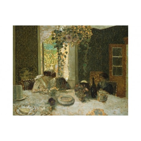 "EDOUARD VUILLARD ""Dining Room"" hanging VINE table door wine plate CANVAS PRINT"