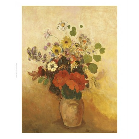 "ODILON REDON ""Vase Of Flowers"" print ON CANVAS choose SIZE, from 55cm up, NEW"