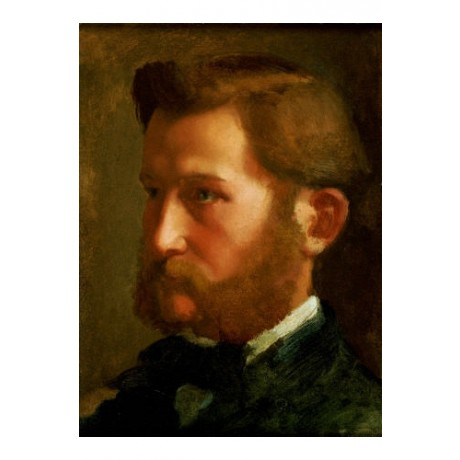 "EDGAR DEGAS ""Paul Valpincon"" Portrait ON CANVAS choose SIZE, from 55cm up, NEW"