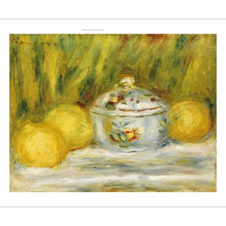 "PIERRE-AUGUSTE RENOIR ""Sugar Bowl And Lemons"" print various SIZES available, NEW"