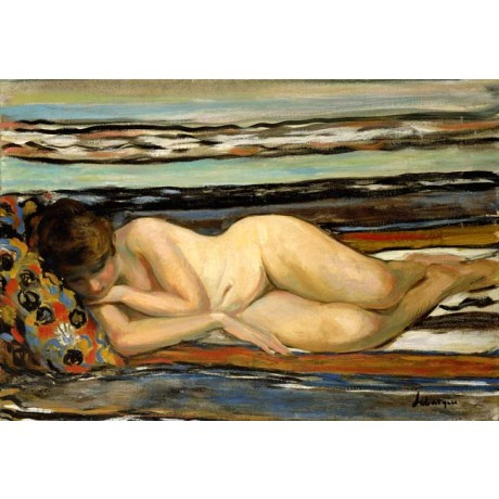HENRI LEBASQUE Nude Woman Sleeping lying on the BEACH coastal NEW CANVAS PRINT