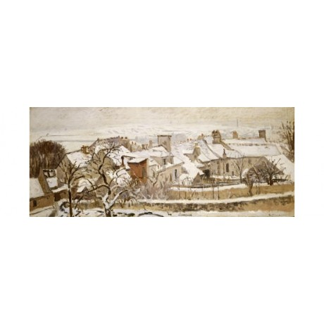 "CAMILLE PISSARRO ""Winter"" landscape print NEW choose your SIZE, 55cm to X LARGE"