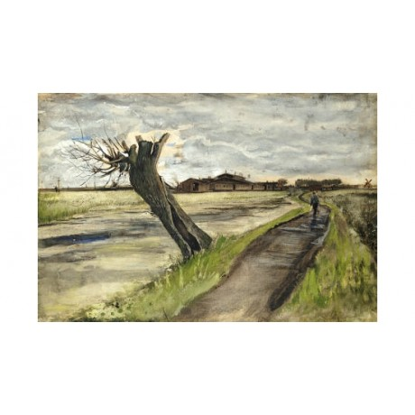 "VINCENT VAN GOGH ""Pollard Willow"" print ON CANVAS choose SIZE, from 55cm up, NEW"