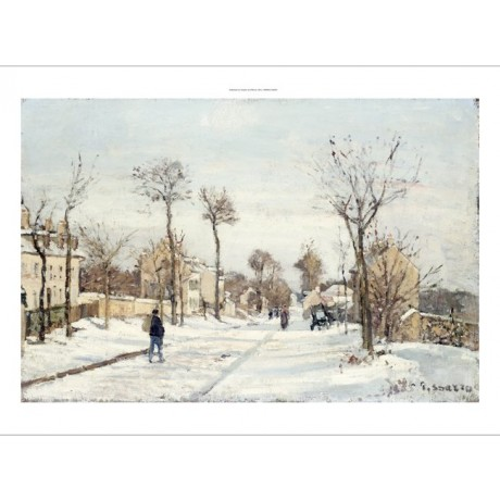 "CAMILLE PISSARRO ""Snowy Road, Louveciennes"" print choose SIZE, from 55cm up, NEW"