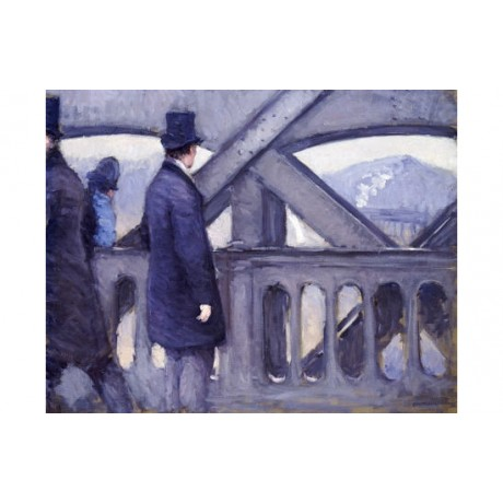 "GUSTAVE CAILLEBOTTE ""Le Pont De L'Europe"" ON CANVAS various SIZES available, NEW"